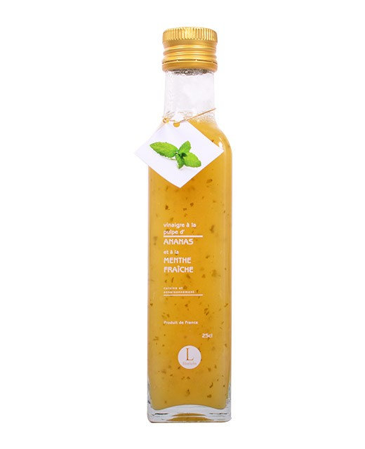 Vinaigre à la pulpe d'ananas et à la menthe - Libeluile