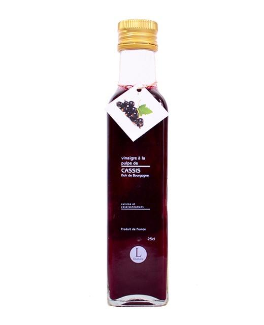 Vinaigre à la pulpe de cassis noir de Bourgogne - Libeluile