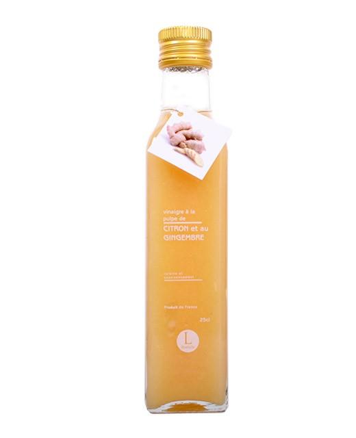 Vinaigre à la pulpe de citron et au gingembre - Libeluile