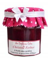 Confiture aux 2 fruits du jardin - framboises et groseilles d'Alsace - Christine Ferber