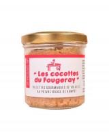 Rillettes gourmandes de volaille au poivre rouge de Kampot - Comptoir Fougeray