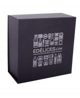Coffret en carton noir Edélices - moyen - Edélices