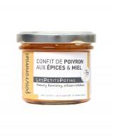 Confit de poivron aux épices et au miel - Poivronmiel - Petits Potins (Les)