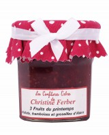 Confiture 3 fruits du printemps - rhubarbe, framboises et groseilles - Christine Ferber