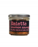 Emietté de saumon sauvage aux piquillos épicés et huile d'olive - L'Atelier du Cuisinier