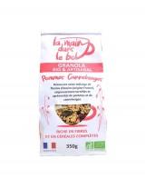 Granola bio - Pommes Canneberges - La main dans le bol