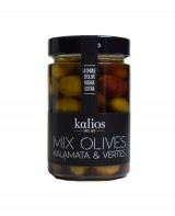 Mix d'olives Kalamata et Chalkidiki à l'huile d'olive - Kalios