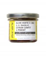 Olive verte au basilic, citron confit et au piment - Olive verte - Les Petits Potins