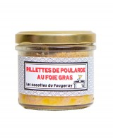 Rillettes de poularde au foie gras - Le comptoir du Fougeray