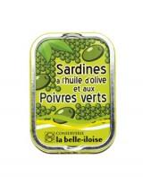 Sardines à l'huile d'olive et poivres verts - Belle-Iloise (La)