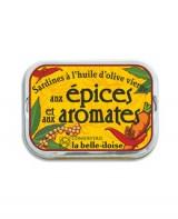 Sardines à l'huile d'olive vierge aux épices et aux aromates - Belle-Iloise (La)