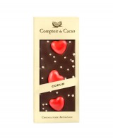 Tablette chocolat noir - Cœur  - Comptoir du Cacao