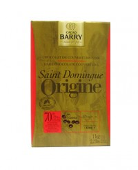 Chocolat de couverture noir de Saint-Domingue 70% - Barry