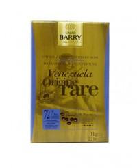 Chocolat de couverture noir du Vénézuela 72% - Barry