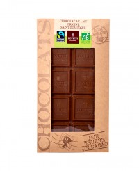 Tablette chocolat lait - Saint-Domingue bio - Bovetti