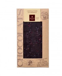Tablette chocolat noir - cranberries - Bovetti