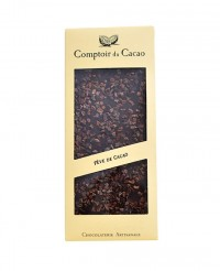 Tablette chocolat noir - fève de cacao - Comptoir du Cacao