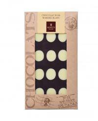 Tablette chocolat noir - marbré blanc - Bovetti