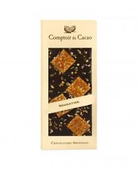 Tablette chocolat noir - nougatine - Comptoir du Cacao