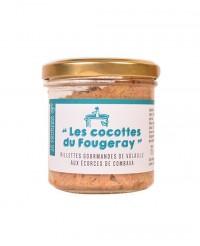 Rillettes gourmandes de volaille aux écorces de combava - Le comptoir du Fougeray