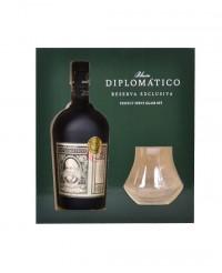 Coffret Rhum Diplomatico Reserva Exclusiva + 2 verres - Diplomatico