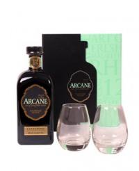 Coffret Rhum Arcane Extraroma ambré + 2 verres - Arcane