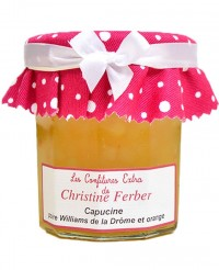 Confiture Capucine - poire Williams, orange - Christine Ferber