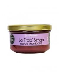 Fraise Senga à la sauce framboise - Vergers de Gascogne