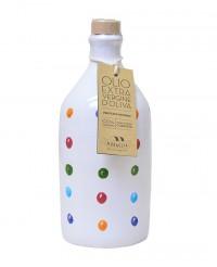 Huile d'olive vierge extra des Pouilles - Bouteille à pois - Muraglia