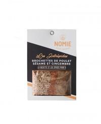 Épices pour brochettes de poulet sésame & gingembre - les intrépides - Nomie Epices