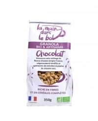 Granola bio - Chocolat - La main dans le bol