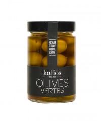 Olives vertes à l'huile d'olive vierge extra - Kalios