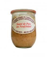 Plat cuisiné Sauté de porc au Neufchâtel - Conserverie Saint-Christophe