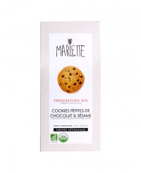 Préparation bio pour Cookies aux pépites de chocolat et sésame - Marlette