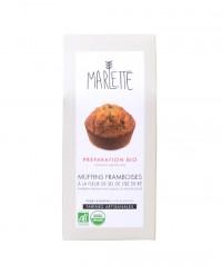 Préparation bio pour Muffins framboises à la fleur de sel de l'île de Ré - Marlette