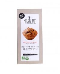 Préparation bio pour Muffins aux pépites de chocolat sans Gluten - Marlette