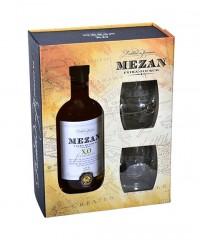Coffret avec Rhum Jamaica XO + 2 verres - Mezan