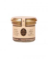 Rillettes de canard au foie gras de canard - Maison de la truffe