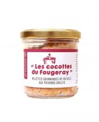 Rillettes gourmandes de volaille aux poivrons grillés - Le comptoir du Fougeray