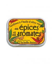 Sardines à l'huile d'olive vierge aux épices et aux aromates - La Belle-Iloise