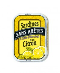 Sardines sans arêtes à l'huile d'olive et au citron - La Belle-Iloise