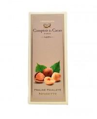 Tablette au praliné feuilleté - noisette  - Comptoir du Cacao