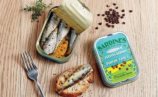 Sardines à l'huile d'olive vierge, thym citron et poivre Timut - La Belle-Iloise