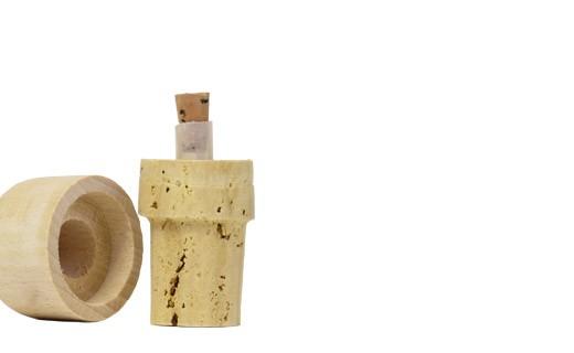 Bouchons verseurs liège et bois 50 cl - La Guinelle