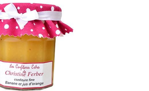 Confiture de Banane et jus d'orange - Christine Ferber