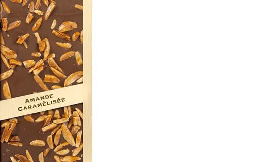 Tablette chocolat lait - amande caramélisée - Comptoir du Cacao