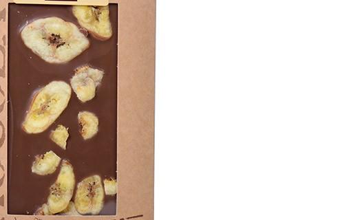 Tablette chocolat lait - banane - Bovetti