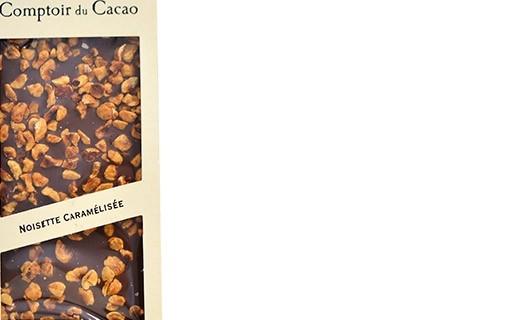 Tablette chocolat lait - noisette caramélisée - Comptoir du Cacao