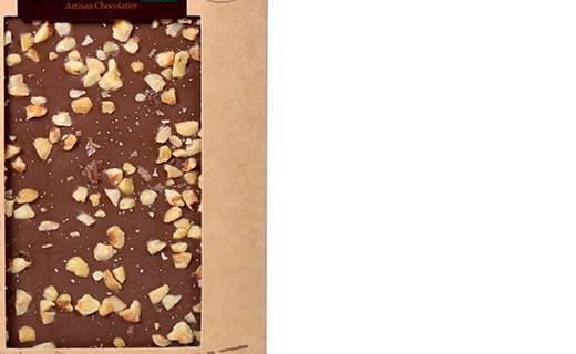 Tablette chocolat lait - noisettes bio - Bovetti