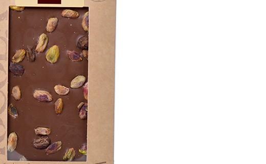 Tablette chocolat lait - pistaches - Bovetti